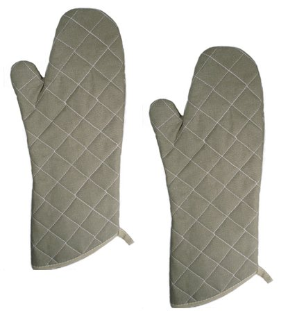 15 Inch Flame Resistant Oven Mitts Flame Retardant up to 400°F Set of 2