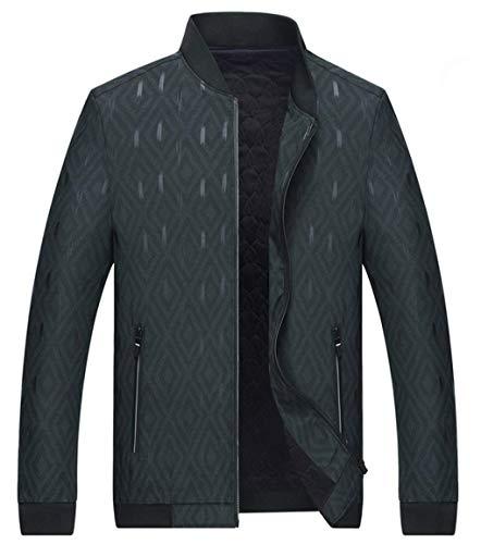 Cappotto Huixin Del Giacche Abbigliamento Modo Di Caldo A Lunga Floreale Outwear Epoca Del Stare Deepgreen Inverno Manica Rivestimento Spessore Da Del Autunno Uomo Collare XxXvA
