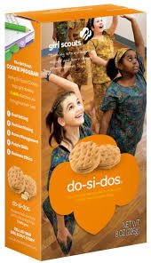 Tan mexicans girl scout cookies with peanut butter
