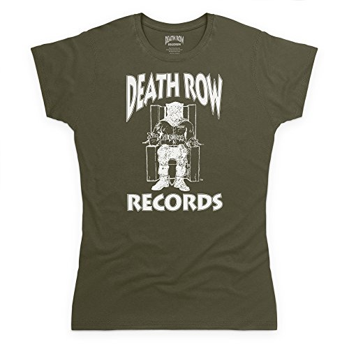 Mujer Death Logo Verde White Records Para Camiseta Official Oliva Row wp6wx
