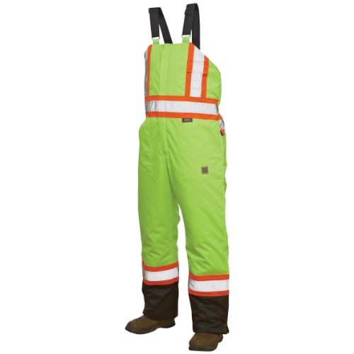 Work King Safety Hi-Vis Insulated Bib Overalls,3XL