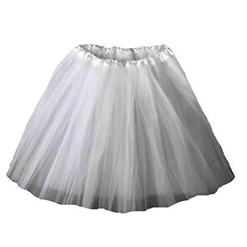 Bride Costume With Tutu (Adult Ballet Tutu Waist 18-36 Length 16-17 by Southern Wrag Company (White))