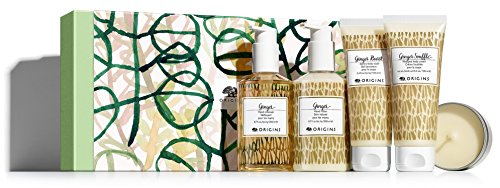 Origins Ginger Gift Set (5 Full Size Pieces) - Lotion, Cleanser, Body Wash, Whipped Body Cream & Candle. ()