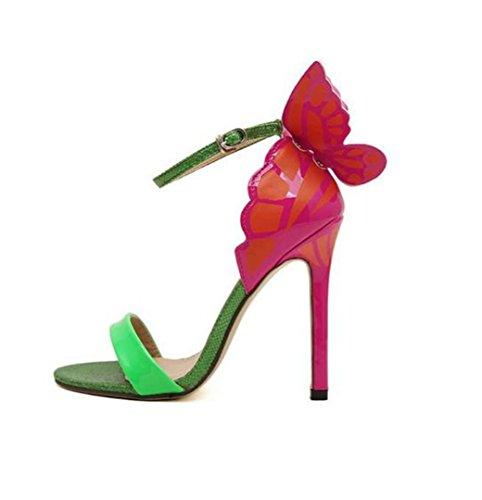 Femmes Pompes Sandales Soirée De En Confortable Vert Hauts Soirée Moulantes Chaussures Boucle Talons Confortables drrnxwf
