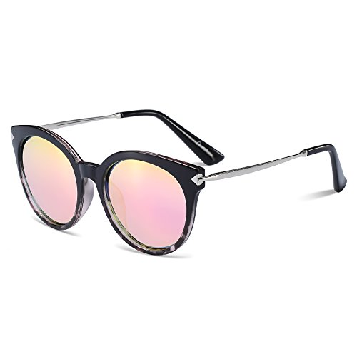 CAXMAN Oversized Mirrored Polarized Sunglasses