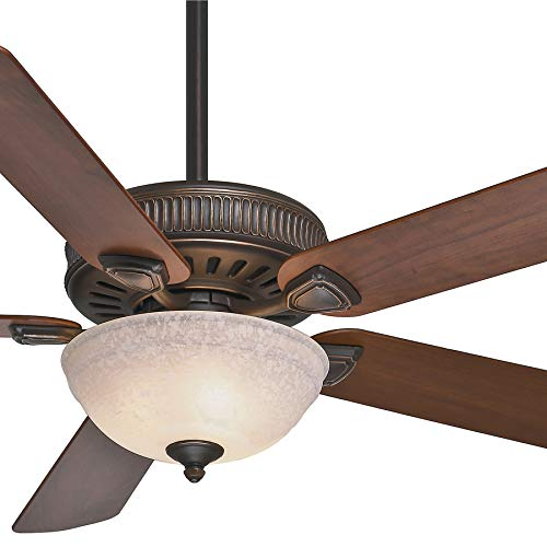 Onyx Bengal Finish - Casablanca Fan 60 inch Onyx Bengal Finish Ceiling Fan with Toffee Glass Light Kit (Certified Refurbished)