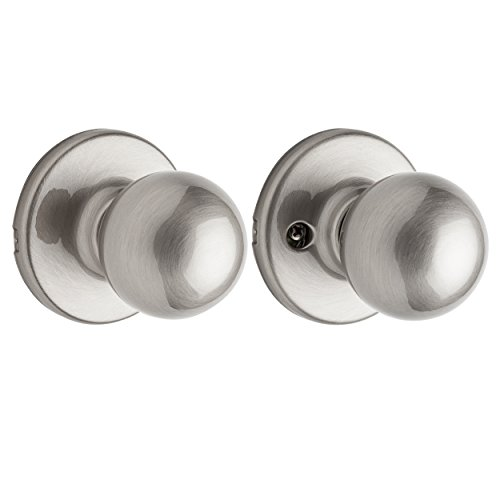 15 Satin Nickel Polo - Kwikset 200P 15 CP Polo Hall and Closet Knob, Satin Nickel