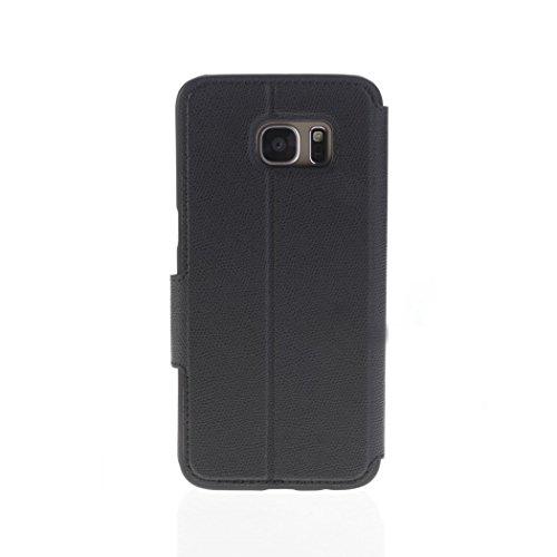 Aiino AISGS7CV-VWBK View Hülle für Samsung Galaxy S7 schwarz