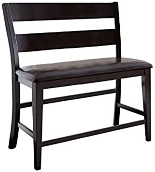 BOWERY HILL Upholstery Counter Bench in Chocolate