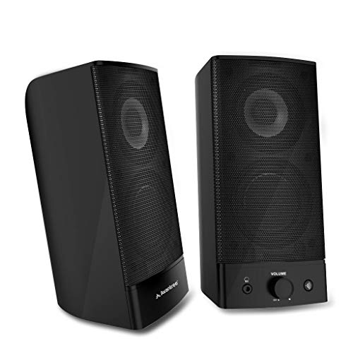 Avantree Desktop Bluetooth PC Computer Speakers, Wireless & Wired 2-in-1, Superb Stereo Audio, AC Powered 3.5mm / RCA Multimedia External Speakers for Laptop, Mac, TV - SP750 [2 Year ()