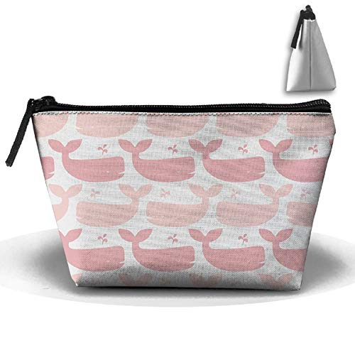 HOTSELL-Makemoney.forever Portable Travel,Storage Bags Pink Whale Clip Arts,Clutch Wallets Big Pouch Purse Zipper Holder Wash Bag