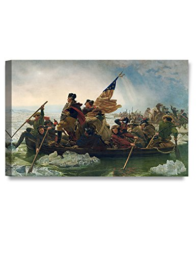 DECORARTS Washington Crossing The Delaware, Emanuel Leutze Art Reproduction, Giclee Print for Home Wall Décor, 20