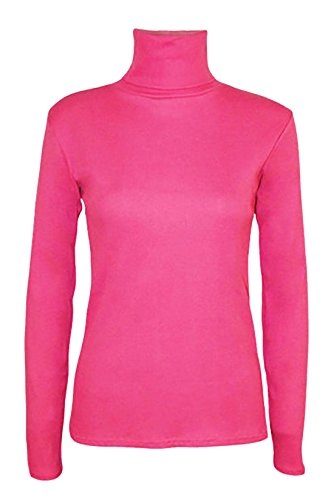 da Plain Fashions Manica Lunga a 40 58 Neck Womens Cerise Top Islander Elastico Polo Donna IT Jumper Fancy q0CSEndw