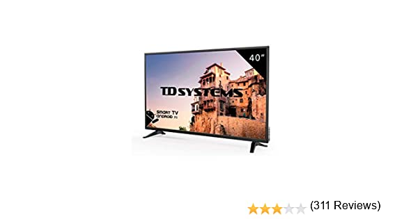 Televisor Led 40 Pulgadas Full HD Smart, TD Systems K40DLM8FS. Resolución 1920 x 1080, 3X HDMI, VGA, 2X USB, Smart TV.: Amazon.es: Electrónica