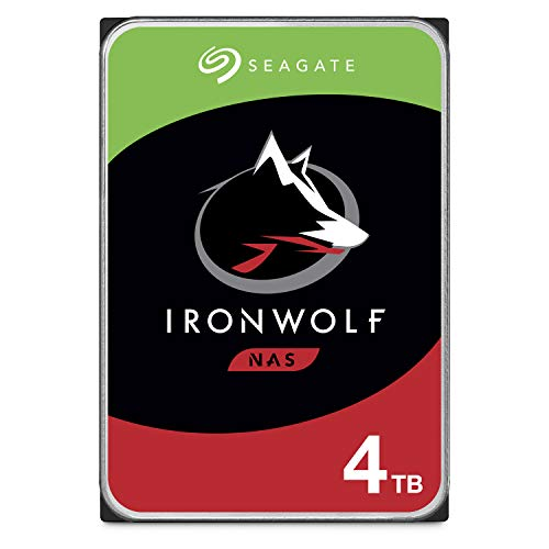 3.5 Inch Desktop Storage - Seagate IronWolf 4TB NAS Internal Hard Drive HDD - 3.5 Inch SATA 6Gb/s 5900 RPM 64MB Cache for RAID Network Attached Storage - Frustration Free Packaging (ST4000VN008)