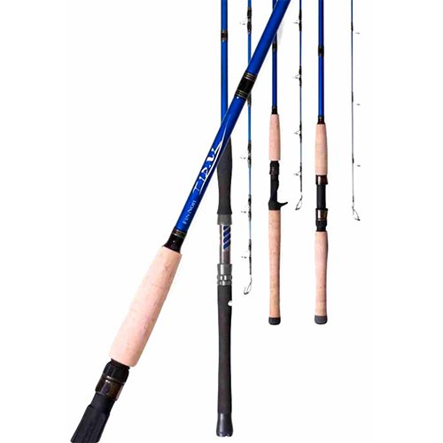 Fin-Nor FNTC6101H Tidal Casting Saltwater Rod, 6-Feet 10-Inch, Blue Tidal with Natural Cork Handles