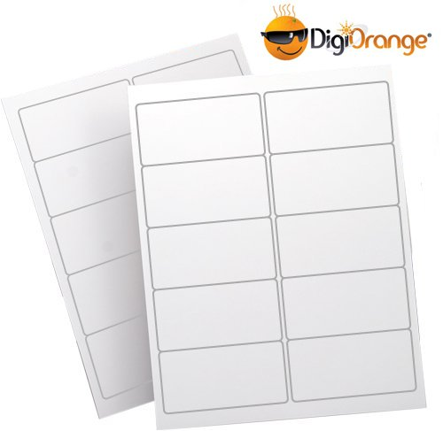 10,000 DigiOrange(TM) White Shipping Labels for Laser/Inkjet Printers, 2 inches x 4 inches
