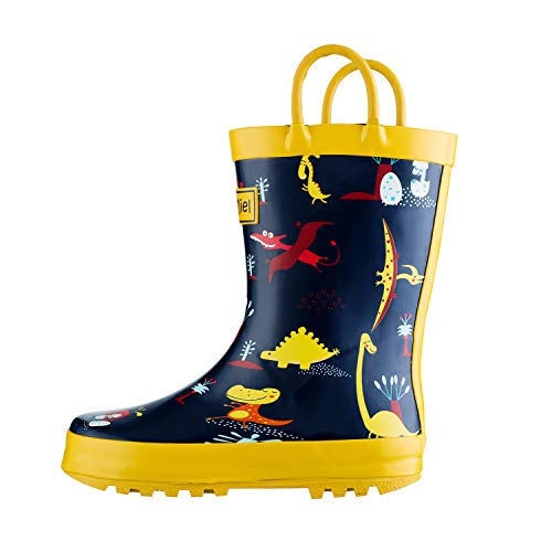 CasaMiel Kid&Toddler Boys Rain Boots for Children, Handcrafted Rubber Boots for Girls, Animal Pattern