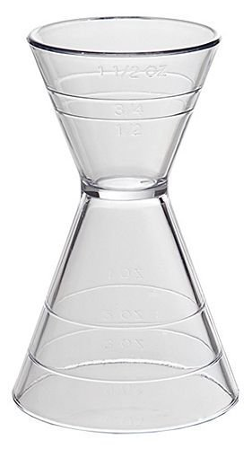 Clear Plastic Super Double Jigger Shot Glass Mixed Drink Measurer (Best Cheap Mixed Drinks)
