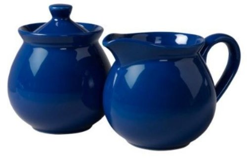 Waechtersbach Fun Factory II Royal Blue Sugar/Creamer Set (Waechtersbach Sugar Dish)