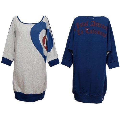 Harajuku Lovers - Heartseye Dolman Women's Top -- Heather Gray sweater (Tops By Harajuku Lovers)