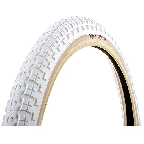 Odyssey Tire - Callaway Odyssey Mike Aitken Knobby Dirt Signature BMX Tire 20x2.35 White Tan Wirebead