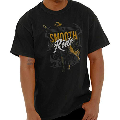 Smooth Ride Wild Rodeo Cowboy Country T Shirt Tee Black