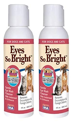 ARK NATURALS Eyes So Bright Pet Eye Cleanser (Pack of 2) with Goldenseal and Echinacea, for Dogs and Cats, Helps Remove Encrustations and Foreign Debris, 4 fl. oz. Each