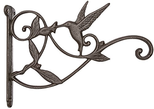 Mkono Hanging Plant Bracket Hook Iron Decorative Plant Hanger for Flower Basket Bird Feeder Wind Chime Lanterns by Mkono