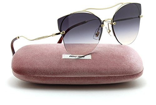 Miu Miu MU 52SS SCENIQUE Collection Butterfly Women Sunglasses (Pale Gold F, Pink Viole Gradient - Noir Sunglasses Miu Miu
