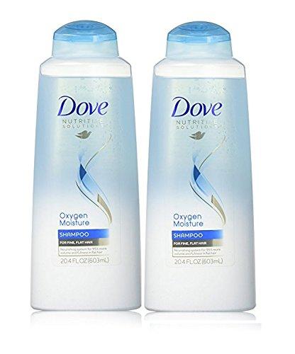 Dove Shampoo Oxygen Moisture, 20.4 Ounce (2 Pack)