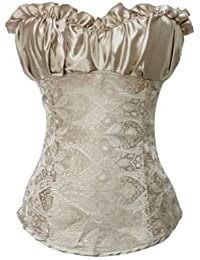 Gold Elegant Printed Fashion Corset Top Bustier Lingerie, Gift Ideas