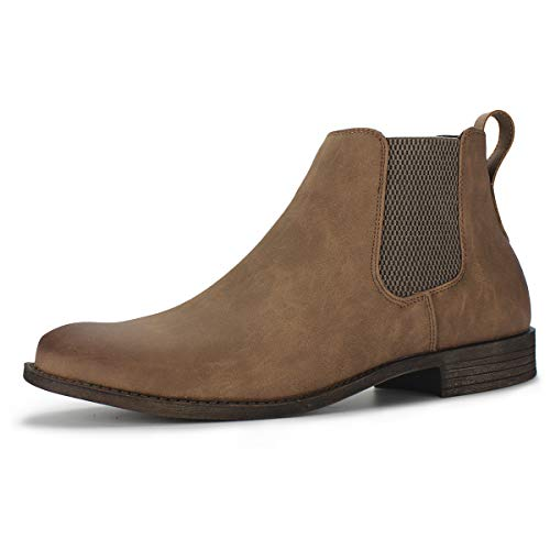 Hawkwell Men's Formal Dress Casual Ankle Chelsea Boot, Tan Manmade, 9 M US