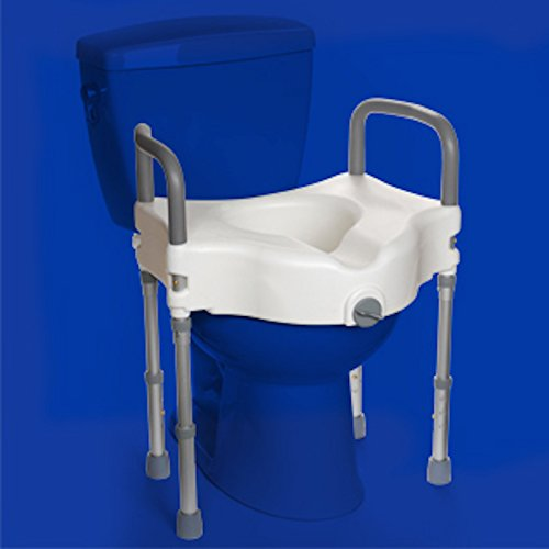 MOBB Elevated Raised Toilet Seat With Arms and Legs