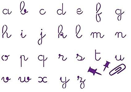 A Dos Manos Adm 120 71 Plantilla Letras Cursivas Minusculas A6
