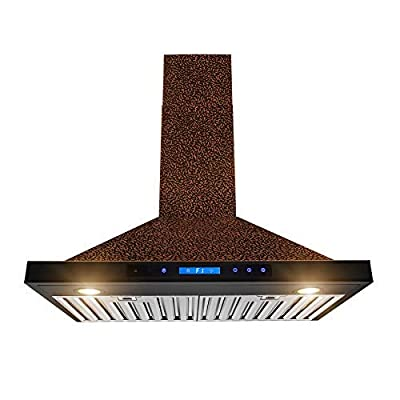 "AKDY 36"" Stainless Steel AZ668A-90 Push Button Wall Mount Range Vent Hood."