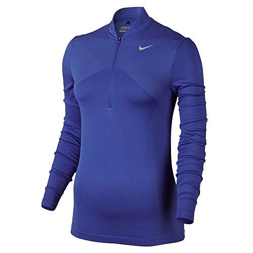 NIKE Zonal Cooling Dri Fit Knit Half Zip Golf Pullover 2017 Women Deep Night/Medium Blue/Flat Silver Medium
