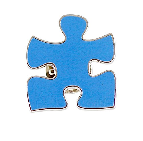 (WIZARDPINS Blue Puzzle Piece Lapel)