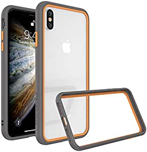Protective Frame from RhinoShield CrashGuard NX for iPhone XS grey with orange