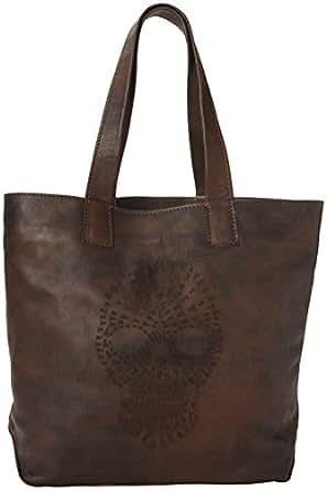 FRYE  Skull Tote Handbag,Maple,One Size