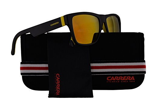 Carrera CA5002/SP Sunglasses Black w/Orange Mirror Lens 267UW CA 5002SP CA5002SP CA - Safari Sunglasses Carrera