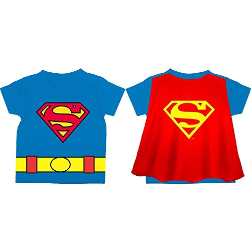 Superman Toddler Kids Child Costume w/ Cape T-Shirt (3T) (Superman T Shirt With Cape)