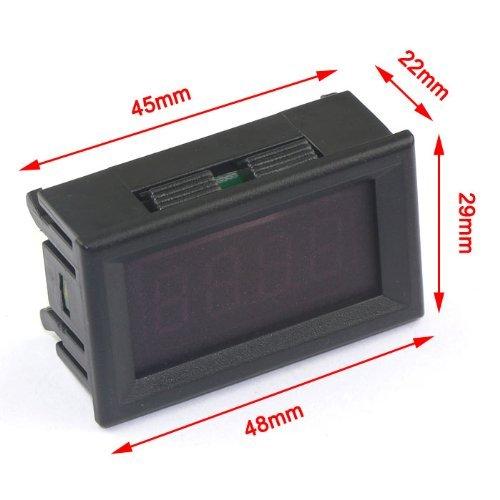 Droking 0-33.00V DC 12V Voltm/ètre Num/érique Batterie de Voiture de Moniteur de Tension Affichage LED Rouge
