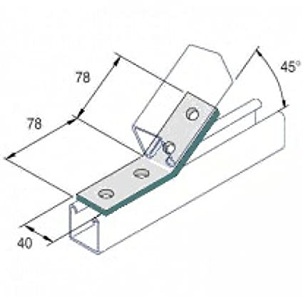 Obtuse Angle 45 Degree 2x2 Hole (Pack of 10) D022A Q10