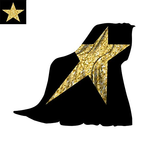 RenteriaDecor Plush Throw Blanket Digital Printing WarmVector Luxury Gold Star Element for Advertising Poster for Restaurant Boutique and Cafe Jewelry Fashion and Party Throw Blanket 62