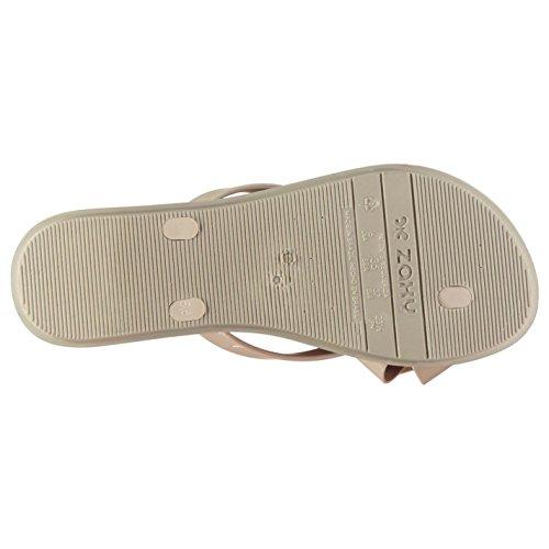 Pantuflas Calzado Casual Zapatillas Chanclas Dorado Ivory Mujer Zapatos Zaxy WcREn