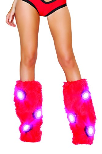- J. Valentine Women's Faux Fur Light Up Legwarmers, Red One Size