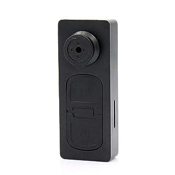 Mengshen HD Mini Botón DV S918 Pinhole Espía Cámara Oculta CAM Botón Cámara Video Audio Grabador De Seguridad DVR Videocámaras Digitales MS-S918: Amazon.es: ...