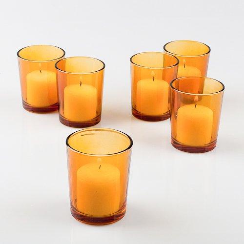 Eastland Amber Glass Votive Holders Set of 72
