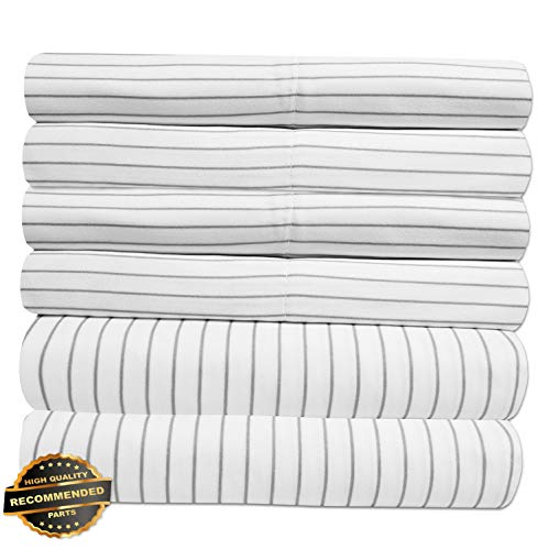 - Gatton New Premium Loft Collection 6 Piece Sheet Set 1500 Thread Count Pinstripe | LINENIENHM-182011901 Cal King